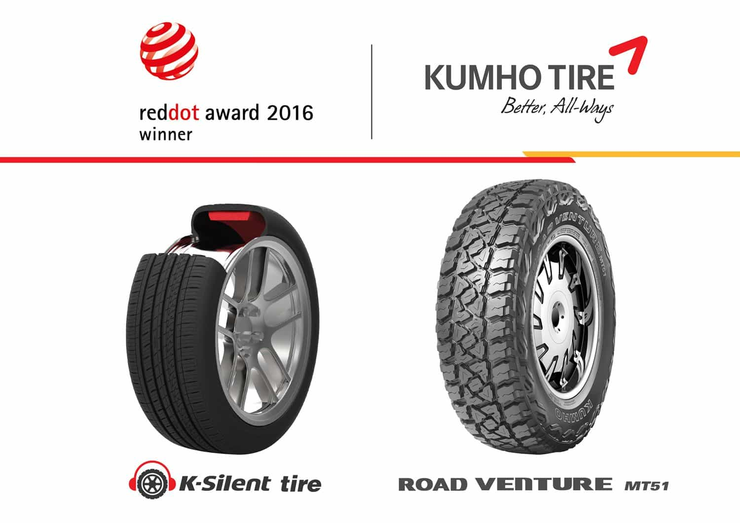 Kumho Tyre Wins Red Dot Award For Product Design 2