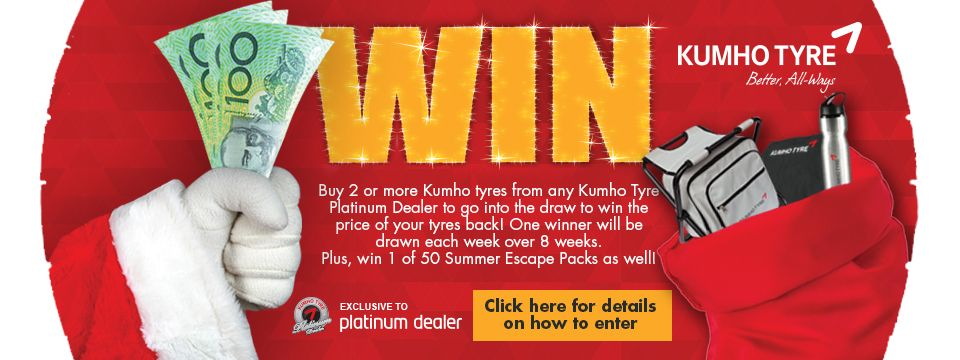 Win The Price of Your Tyres Back - Major Prize Draw