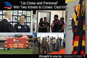 win two tickets to crows club 2019