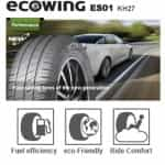 Kumho has achieved fuel saving measures in the Ecowing ES01 KH27 through a silica compound and tread design. 2
