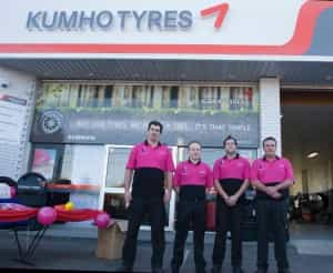 Staff at Kumho's 30 plus Platinum Dealers will wear hot pink shirts during the month of October in order to raise awareness for breast cancer and support the McGrath Foundation.