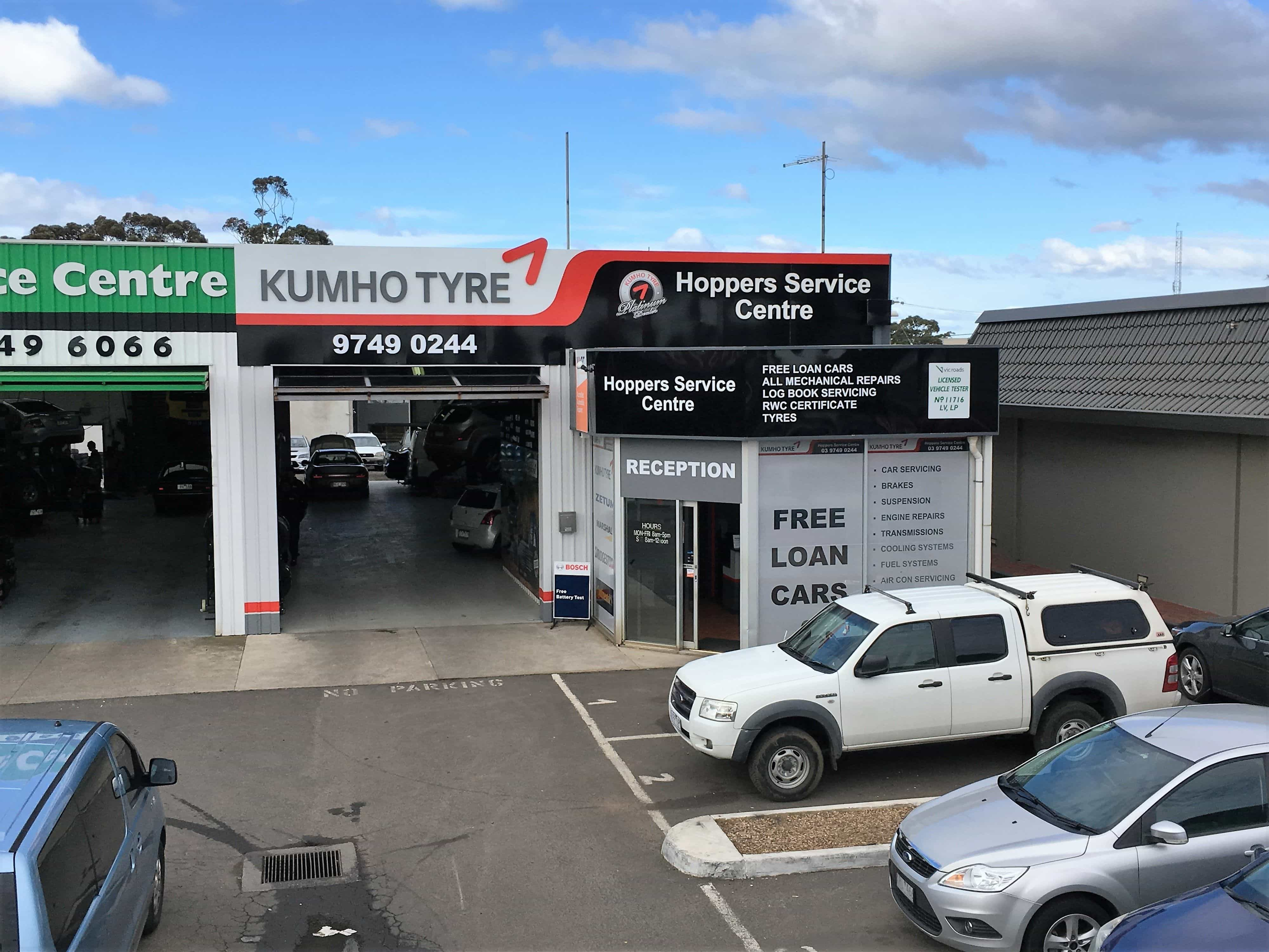 Hoppers Service Centre Kumho Platinum Dealer - Cool cars service centre