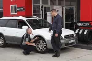 The most important checks on a tyre are pressure, sidewall condition and tread block condition