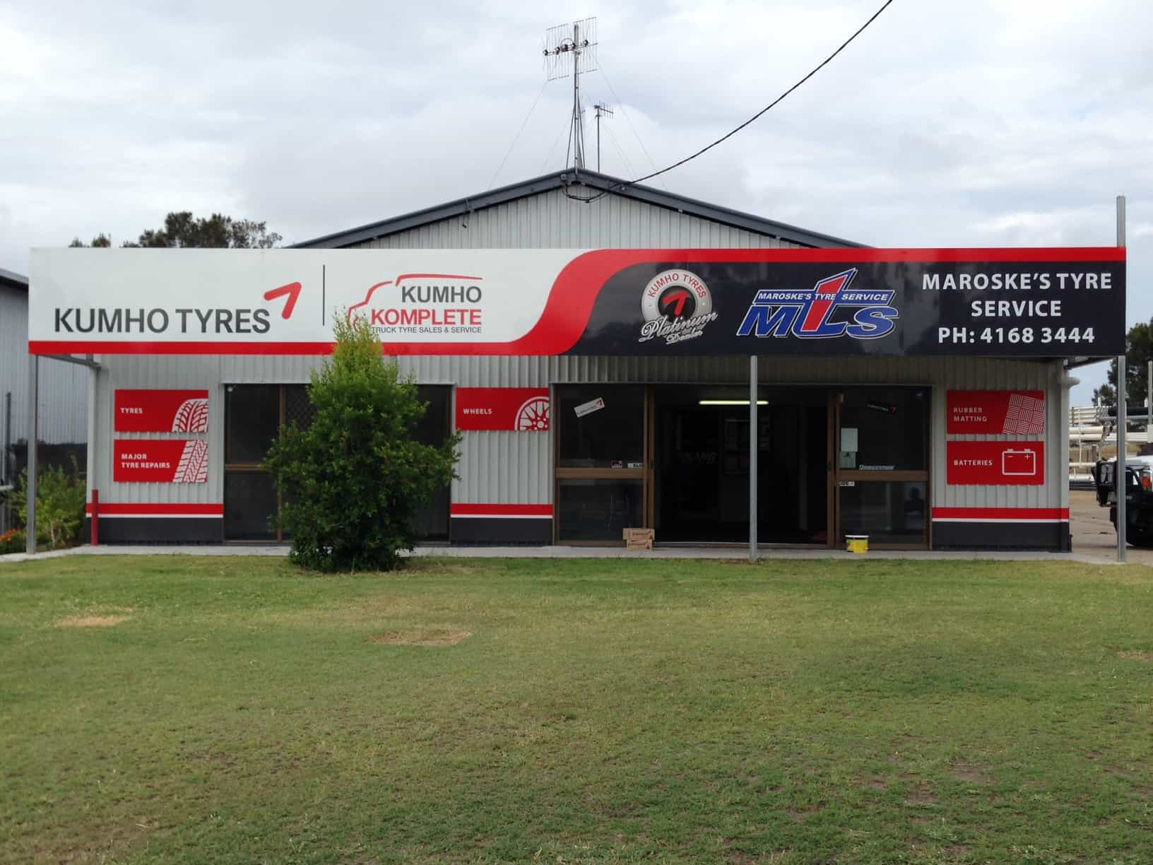 Maroske's Tyre Services was established five years ago to service the South Burnett region and is the newest Kumho Platinum Dealer.