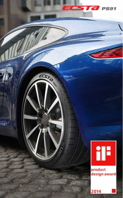 Kumho Tyre, receives accolades at the iF Design Awards, one of the world's 3 largest and most prestigious design awards, proving its excellence in design